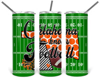 Oklahoma Knows Football Straight or Tapered 20 oz Skinny Tumbler Sublimation Transfer  BMP085