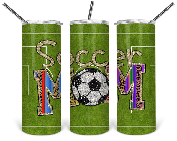 Soccer Mom Straight or Tapered 20 oz Skinny Tumbler Sublimation Transfer  BMP108