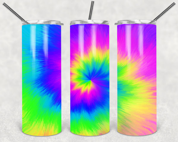 Tie Dye Straight or Tapered 20 oz Skinny Tumbler Sublimation Transfer  BMP110