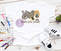 Peace Love Cookies Sublimation Transfer BMP309
