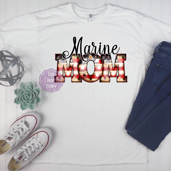 Marine Mom Sublimation Transfer BMP881