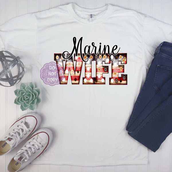 Marine Wife Sublimation Transfer BMP884