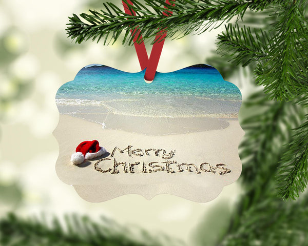 Merry Christmas from the Beach Benelux Shaped Christmas Ornament
