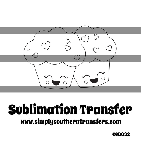 Muffin Coloring Page Sublimation Transfer CCD032