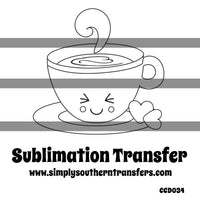 Latte Coloring Page Sublimation Transfer CCD034
