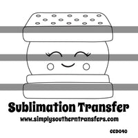 Smores Coloring Page Sublimation Transfer CCD040