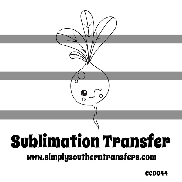 Beet Coloring Page Sublimation Transfer CCD044