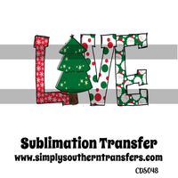 Christmas Love Sublimation Transfer CDS048