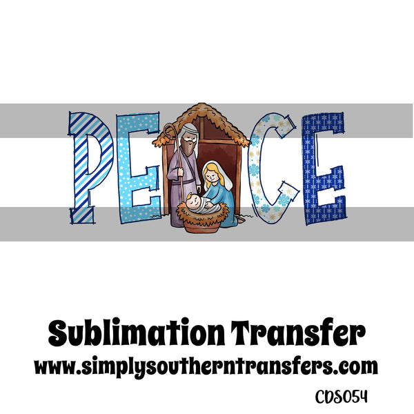 Peace Sublimation Transfer CDS054