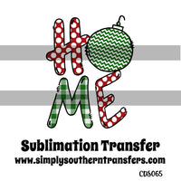 Christmas Home Sublimation Transfer CDS065
