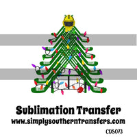 Hockey Christmas Tree Sublimation Transfer CDS073