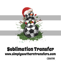 Soccer Snowman Sublimation Transfer CDS098