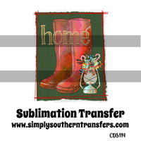 Home for Christmas Sublimation Transfer CDS114