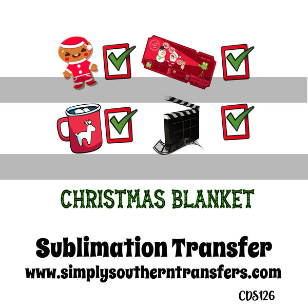 Christmas Blanket Sublimation Transfer     CDS126