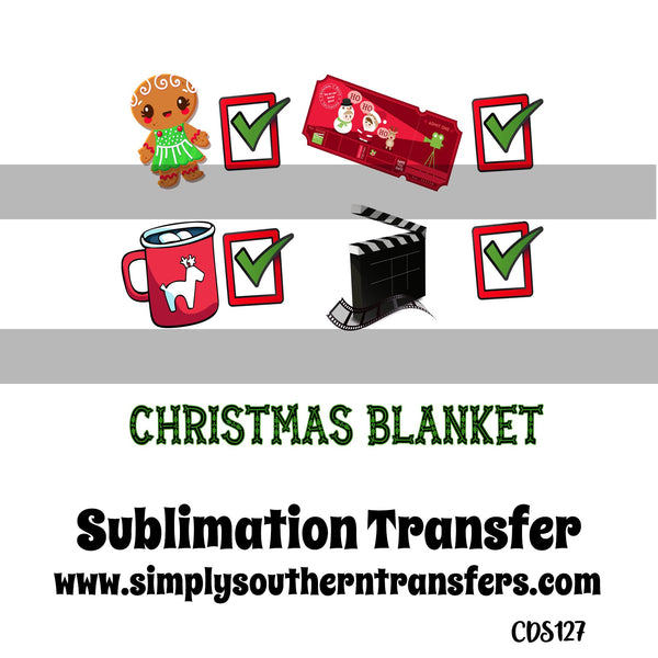 Christmas Blanket Sublimation Transfer     CDS127