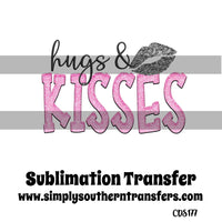Hugs and Kisses Sublimation Transfer CDS177