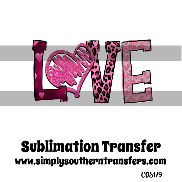 Love Sublimation Transfer CDS179