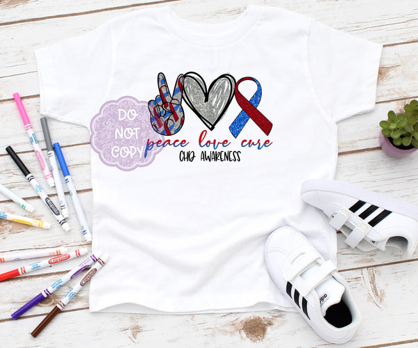 CHD Awareness Toddler Screenprint Transfer