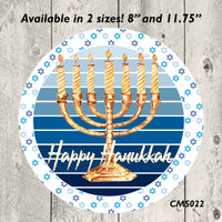 Hanukkah Metal Sign