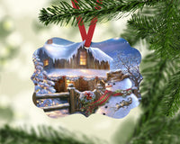 Cowboy Snowman Benelux Shaped Christmas Ornament