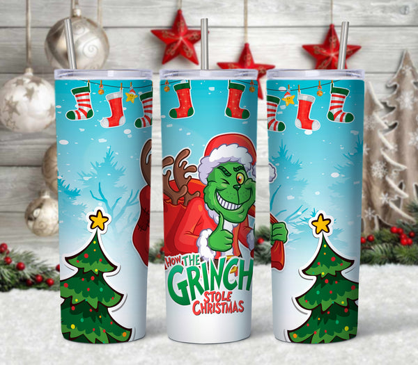 Grinch Pattern 20 oz Double Walled Insulated Tumbler CTD008