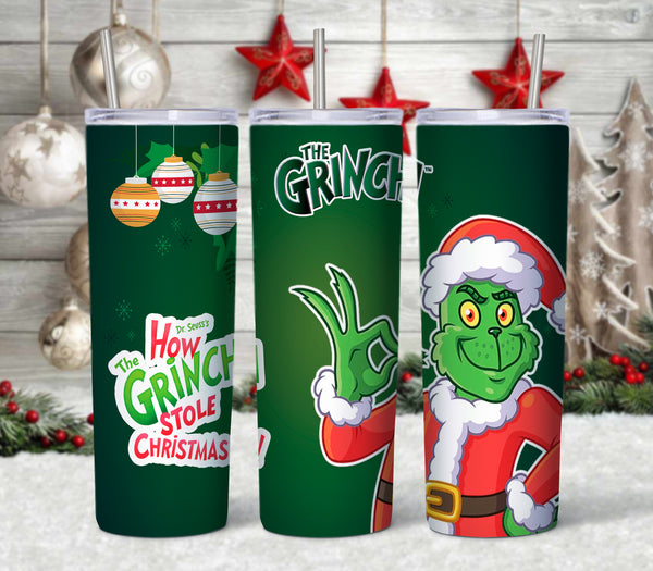 Grinch Pattern 20 oz Double Walled Insulated Tumbler CTD009