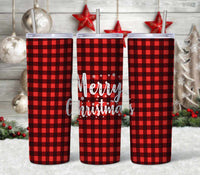 Merry Christmas 20 oz Double Walled Insulated Tumbler CTD028