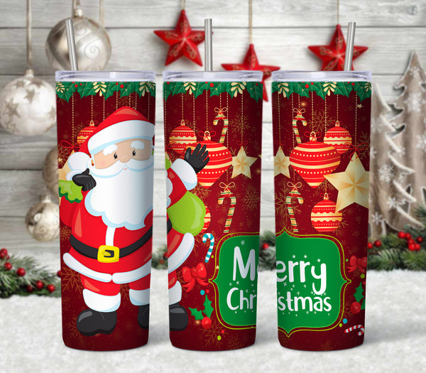 Santa 20 oz Double Walled Insulated Tumbler CTD043