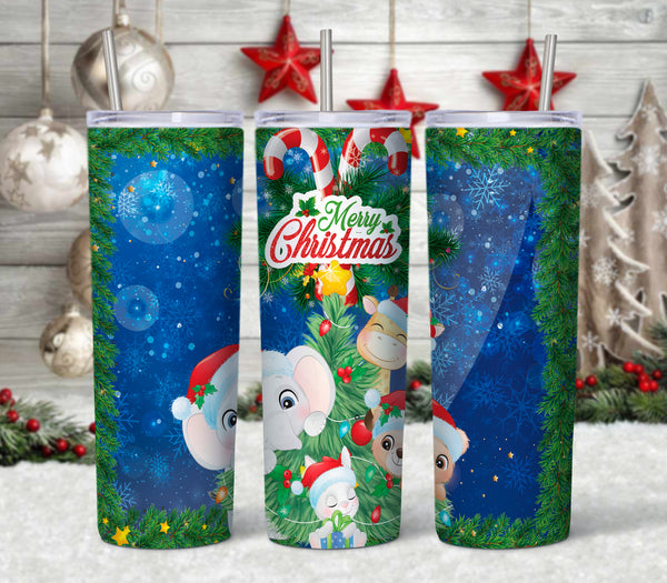 Christmas Friends 20 oz Double Walled Insulated Tumbler CTD049