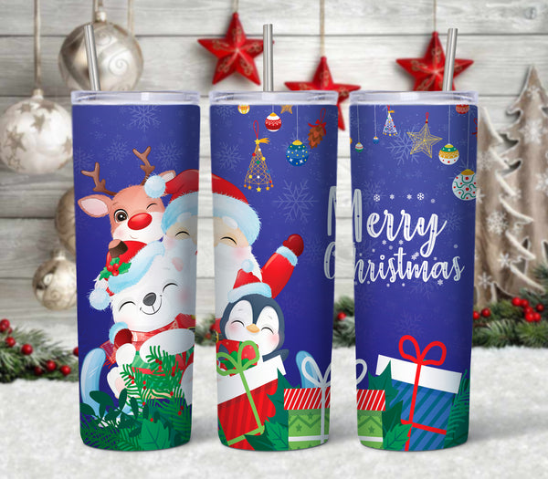 Santa and Friends 20 oz Double Walled Insulated Tumbler CTD050