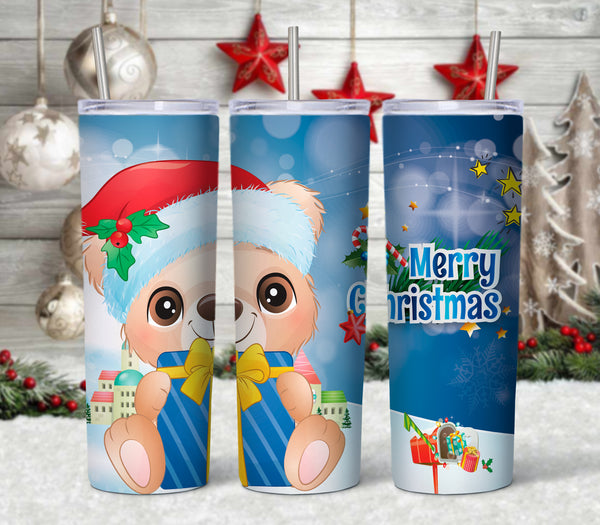 Christmas Bear 20 oz Double Walled Insulated Tumbler CTD051