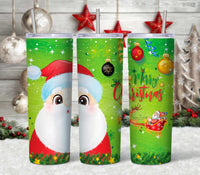 Santa 20 oz Double Walled Insulated Tumbler CTD056