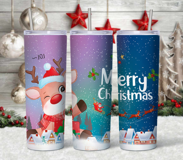 Rudolph 20 oz Double Walled Insulated Tumbler CTD058