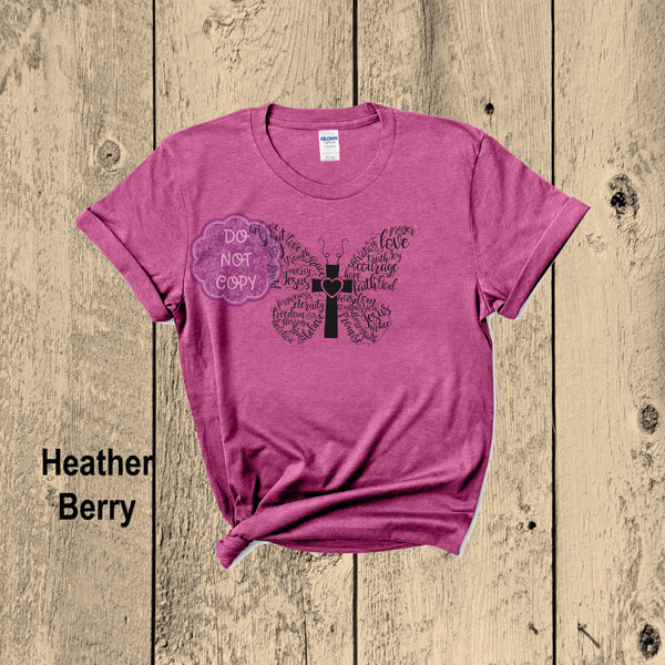 Christian Butterfly T-shirt