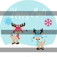 Christmas Deer Happy Mail Stickers