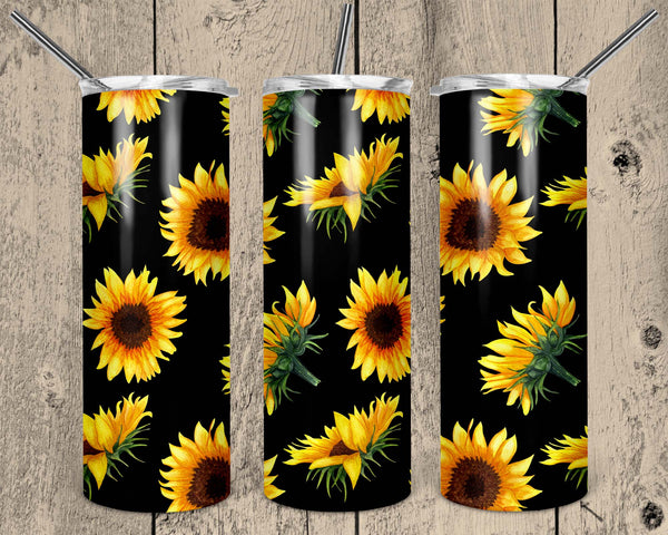 Sunflower Pattern 20 oz Double Walled Insulated Tumbler