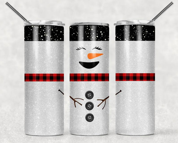Snowman Straight or Tapered 20 oz Skinny Tumbler Sublimation Transfer EPC007