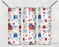 Patterned Christmas 20 oz Double Walled Insulated Tumbler EPC013
