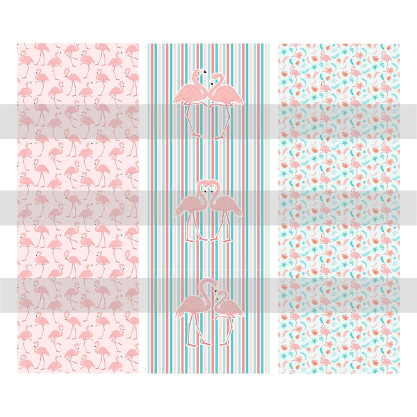 Fancy Flamingos Pen Wrap Digital Design