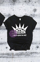 Freedom Looks Good on Me Youth Screenprint Transfer F2