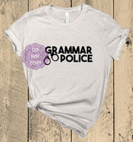Grammar Police Screenprint Transfer (U-4)