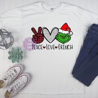 Peace Love Grinch Sublimation Transfer