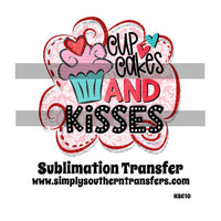 Cupcakes and Kisses Sublimation Transfer HSC010