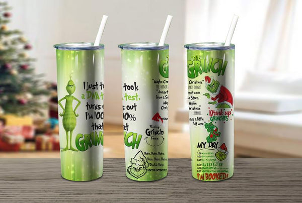 Grinch 20 oz Double Walled Insulated Tumbler. JS001
