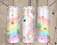 Unicorn outline 20 oz Double Walled Insulated Tumbler  NNT011