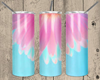 Pink Half Flower 20 oz Double Walled Insulated Tumbler. NNT014