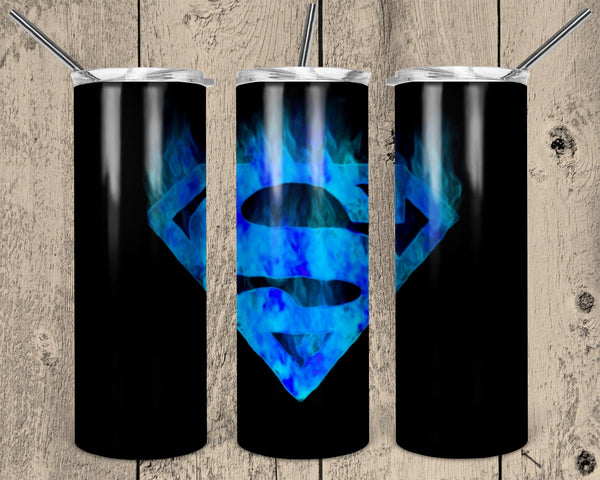 Spiderman Logo Blue 20 oz Double Walled Insulated Tumbler. NNT019