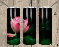 Pink Flower 20 oz Double Walled Insulated Tumbler. NNT028