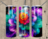 Exploding Flower 20 oz Double Walled Insulated Tumbler. NNT030