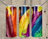 Feathers 20 oz Double Walled Insulated Tumbler. NNT032